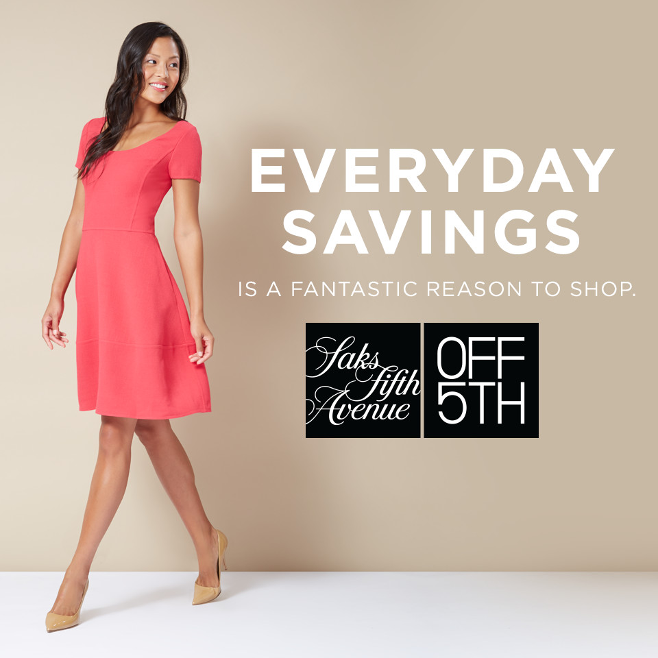 """Time for the """"Big Clear Out"""" at Saks Fifth Avenue OFF 5TH at The ..."""